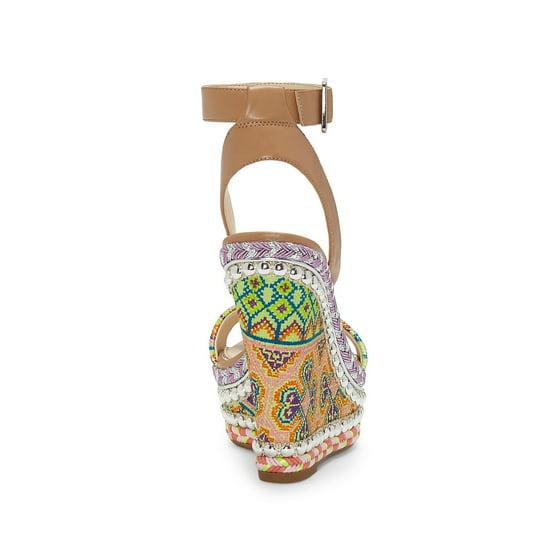 cda3987d1d4 Jessica Simpson - Alinda Textured Wedge Sandals - Walmart.com