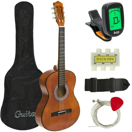 Best Choice Products 38in Beginner Acoustic Guitar Starter Kit w/ Case, Strap, Digital E-Tuner, Pick, Pitch Pipe, Strings - Brown Alvarez Acoustic Guitar Picks