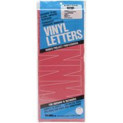 DURO Permanent Adhesive Vinyl Letters, 6-Inch, Red