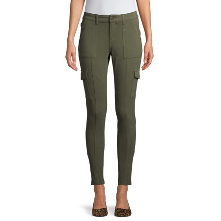 Time and Tru Women's Knit Skinny Cargo Pant Cashmere Knit Pants
