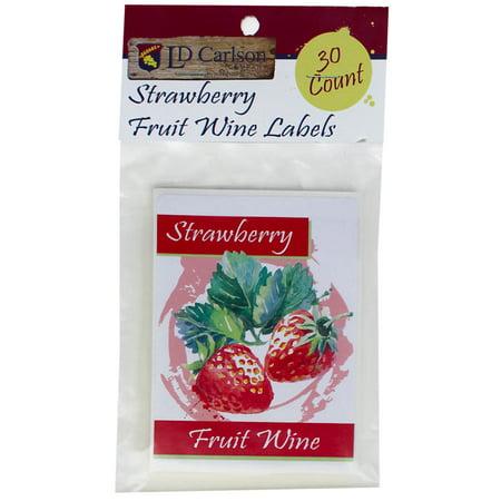 Dry Strawberry Wine (Strawberry Fruit Wine Labels )