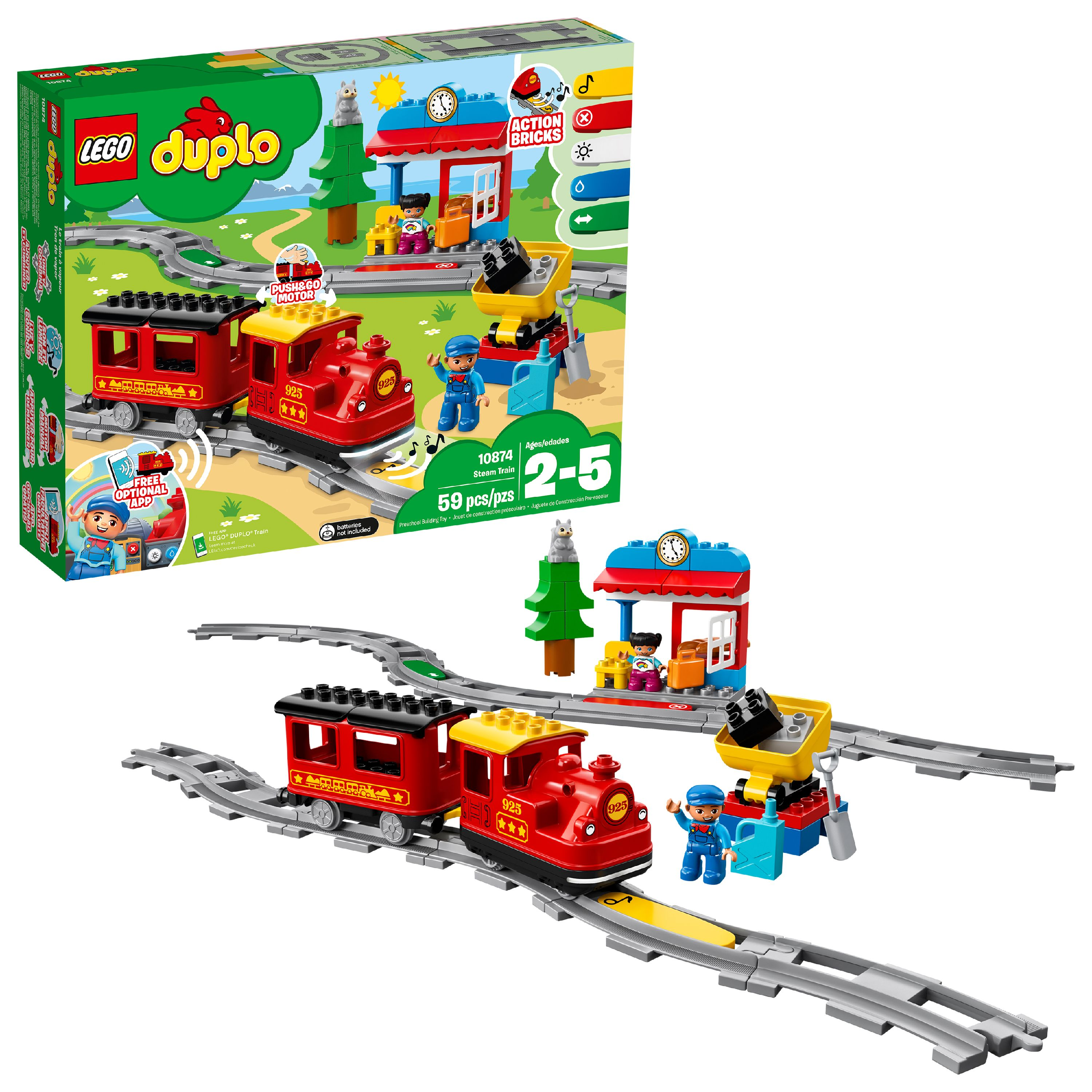 LEGO DUPLO Town Steam Train 10874 Building Set (59 Pieces)