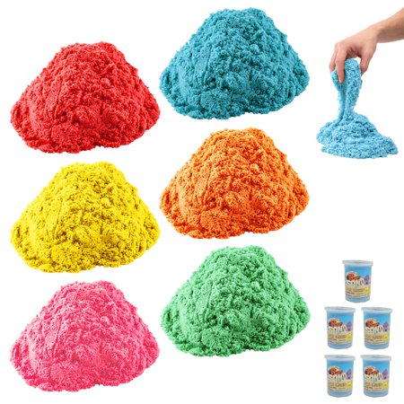 5 Colorful Magic Sand Play 2.2 lb Kid Indoor Play Craft Non Toxic Toy DIY Lot