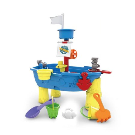 3 Tub Sand N-water Table - Pirate Ship, Sand and Water Play Table 13 pcs.
