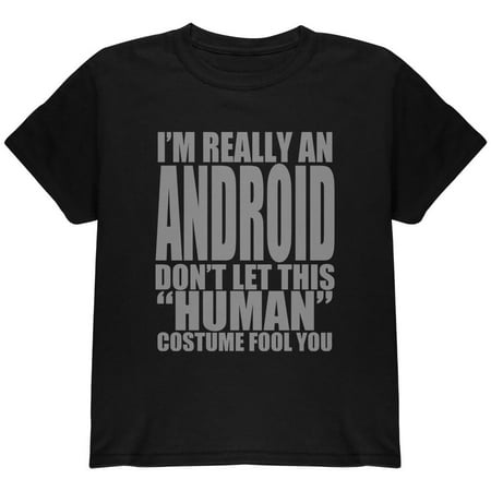 Human Android Costume Youth T Shirt - Android Halloween