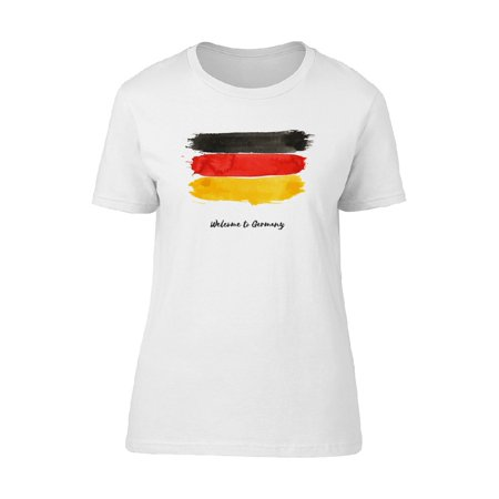 Germany Watercolor National Flag Tee Women's -Image by Shutterstock