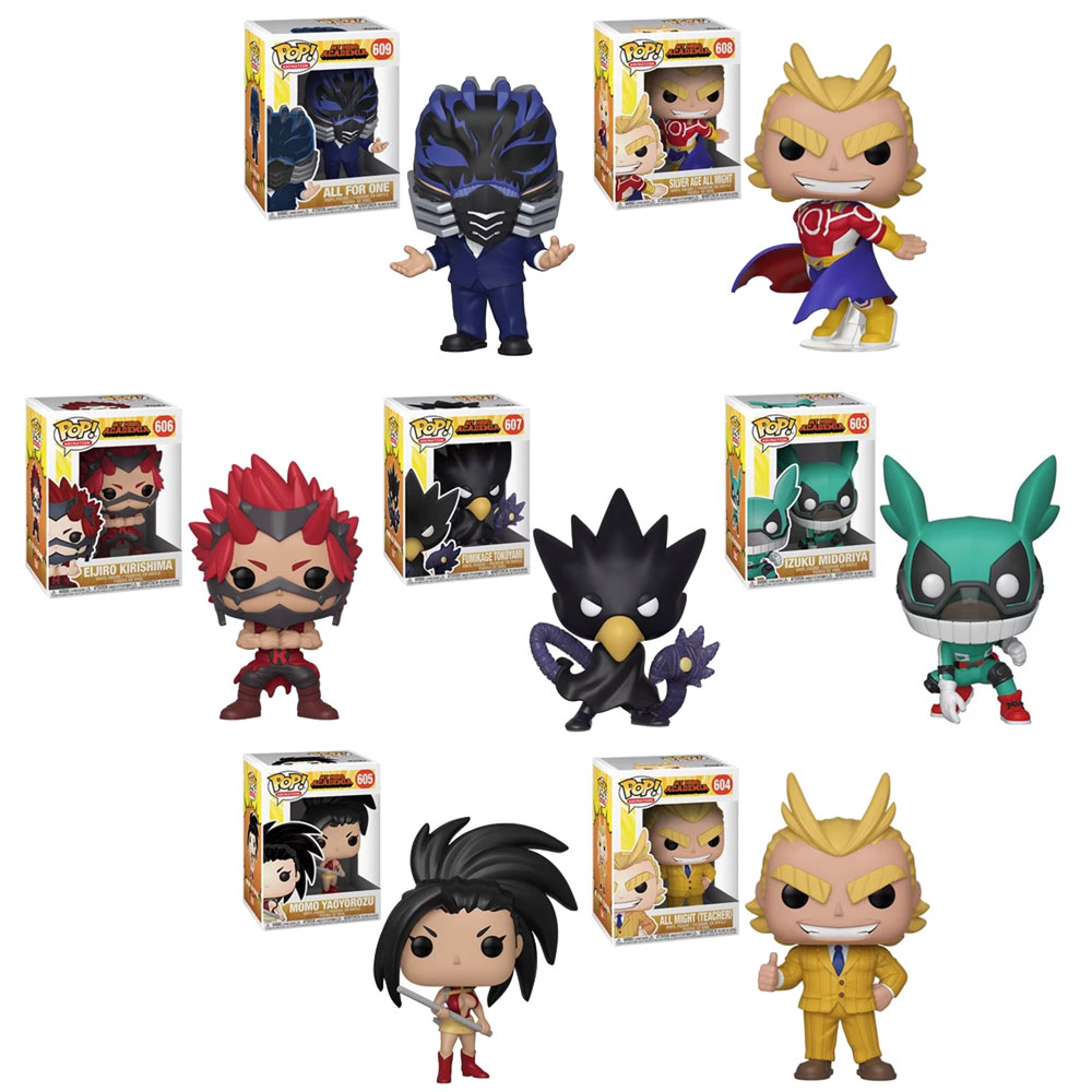 Funko Pop Animation My Hero Academia S3 Vinyl Figures Set Of 7 Kirishima Tokoyami 5 Walmart Com Walmart Com
