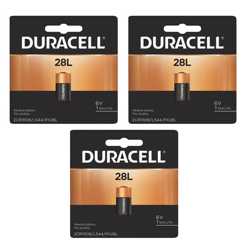 3 X Duracell 28L PX28LBPK L544 PX28L Lithium 6V Photo Battery
