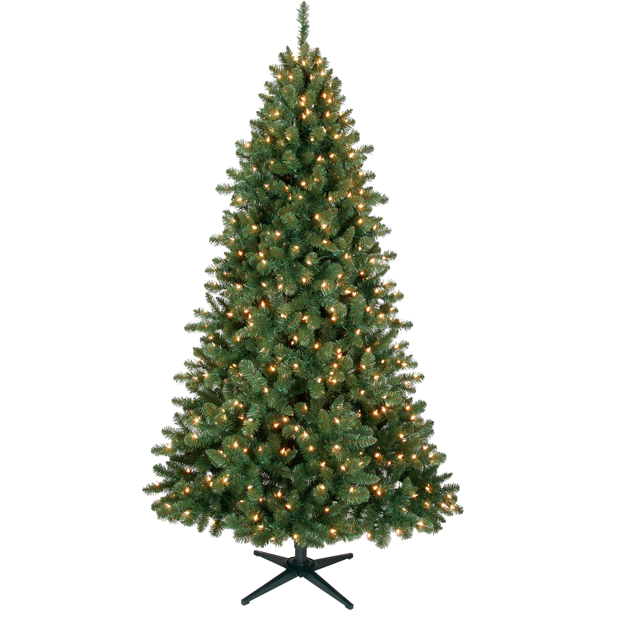 Www.walmart Christmas Trees Part - 41: Holiday Time Pre-Lit 7u0027 Duncan Christmas Tree, Green, Clear Lights - Walmart .com
