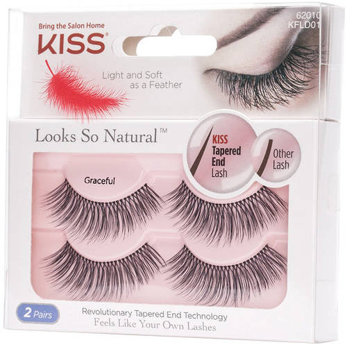 KISS Looks So Natural False Eyelashes, Graceful, 2 pairs