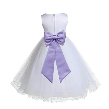 420977608a2 Ekidsbridal Satin White Lilac Tulle Rattail Christmas Bridesmaid Recital  Easter Holiday Wedding Pageant Communion Princess Birthday Clothing Baptism  829T ...