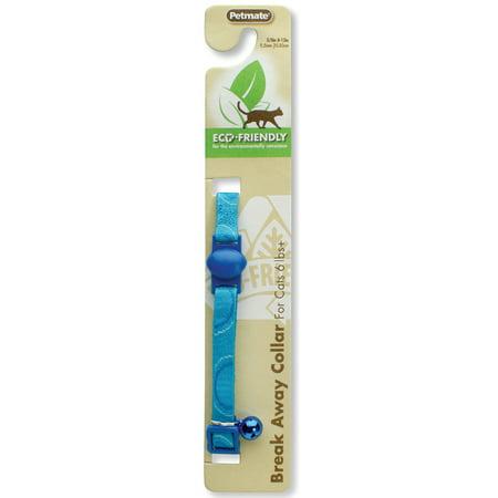 Eco Dog Collar - Petmate Eco Breakaway Adjustable Cat Collar Circles Green 3/8 X 8-12in