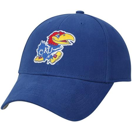 Men's Royal Kansas Jayhawks Team Logo Basic Adjustable Hat - OSFA