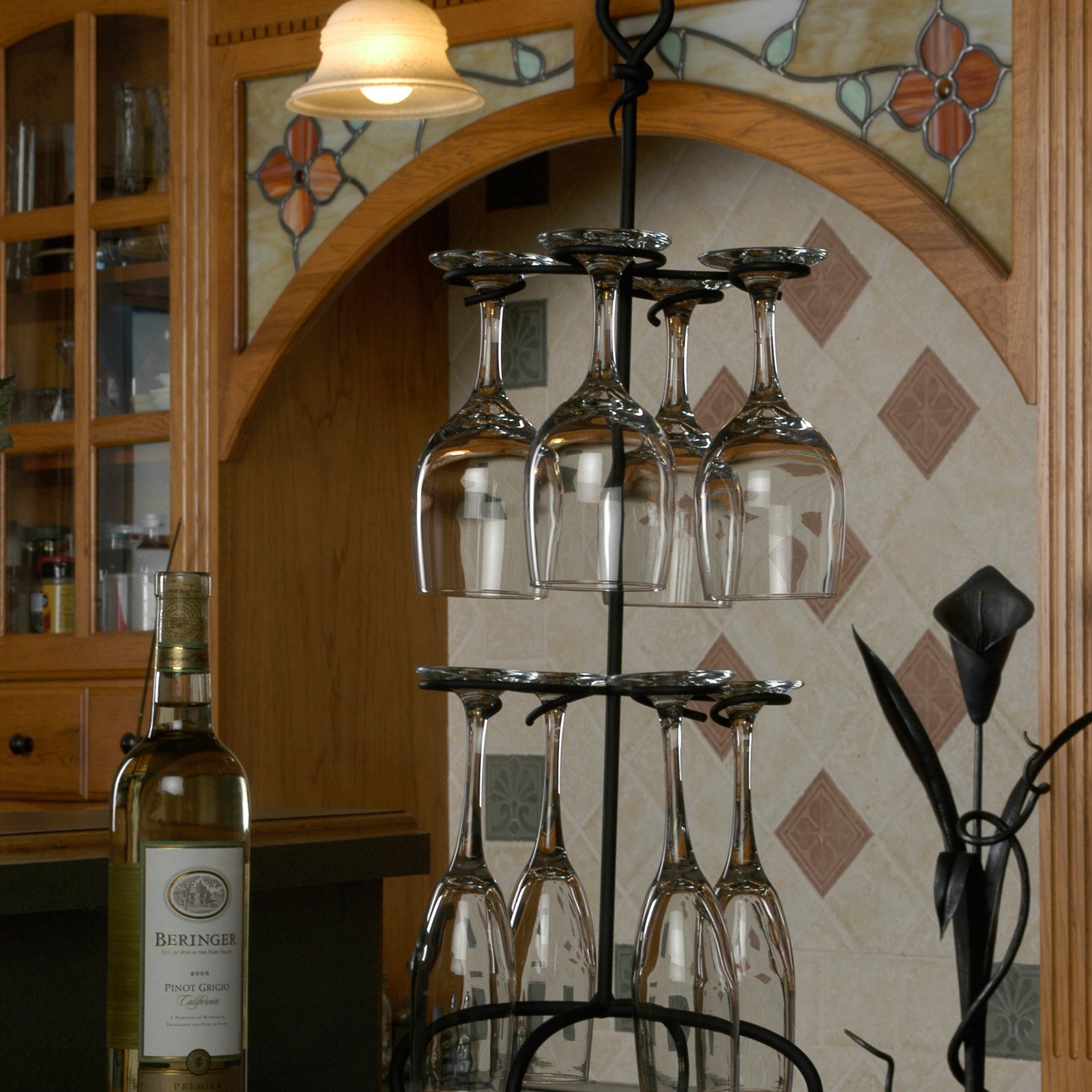 installing hanging cabinet rack wine under image glass dark an sterling oa sightly racks dazzling diy stemware