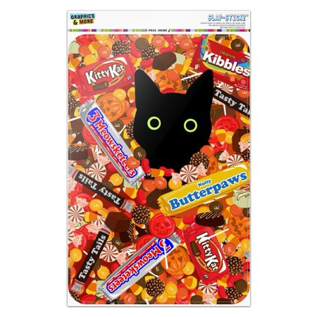 The Office Halloween Andy Cat (Halloween Black Cat Hiding in Candy  Home Business Office)