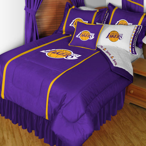 NBA Los Angeles Lakers Bedding Set Basketball Bed Queen