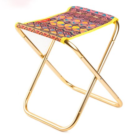 Outstanding Portable Outdoor Aluminum Alloy Folding Camping Stool Lightweight Collapsible Chair For Hiking Fishing Travelling Beach Ethnic Printing Pattern Ocoug Best Dining Table And Chair Ideas Images Ocougorg