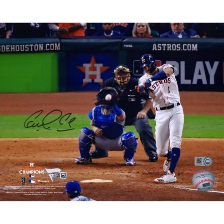 "Carlos Correa Houston Astros 2017 MLB World Series Champions Autographed 8"" x 10"" World Series Hitting Photograph - Fanatics Authentic Certified"