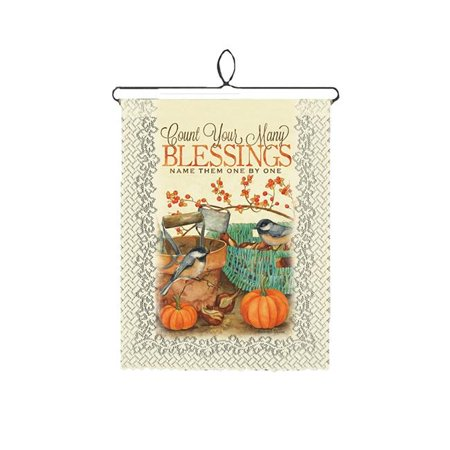 Halloween Themed Cafe (Heritage Lace Halloween and Harvest Wall Decor Cafe Chickadee-Blessings Wall Hanging, 12 by)