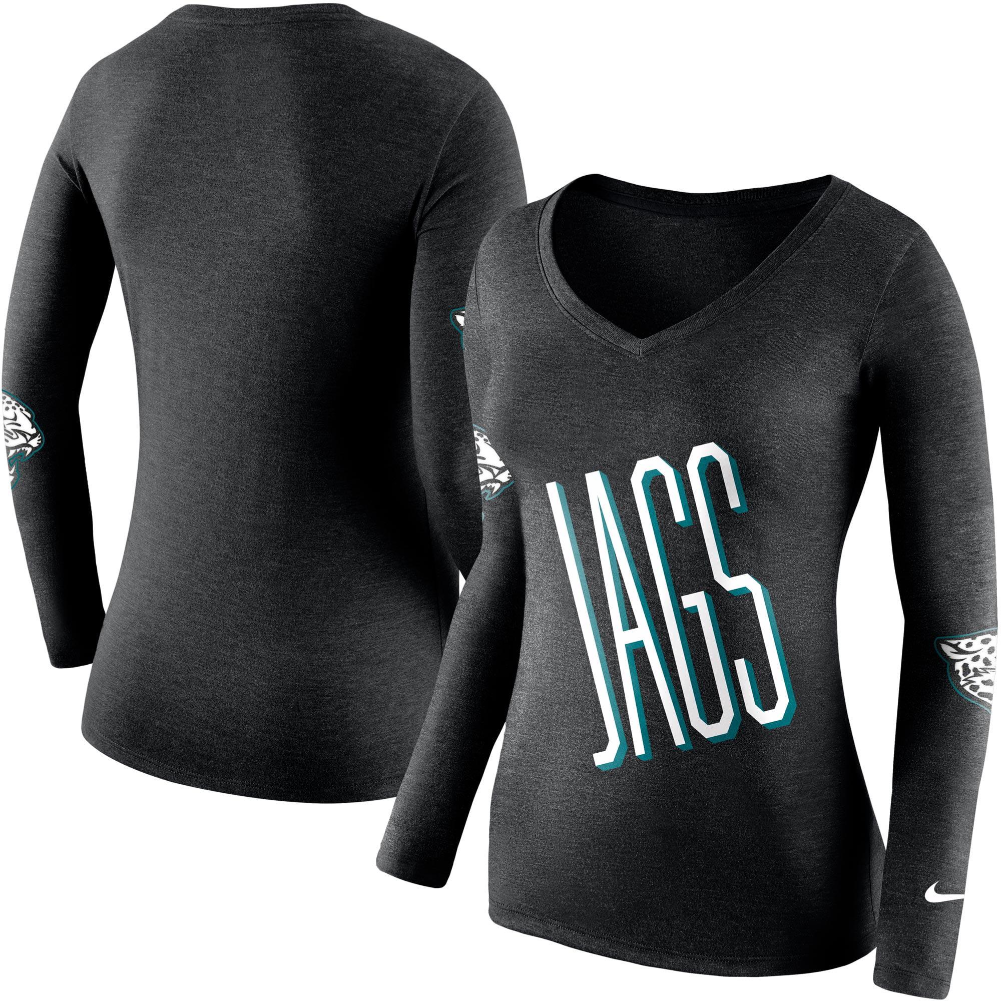 Jacksonville Jaguars Nike Women's Champ Drive 2 Long Sleeve T-Shirt - Black