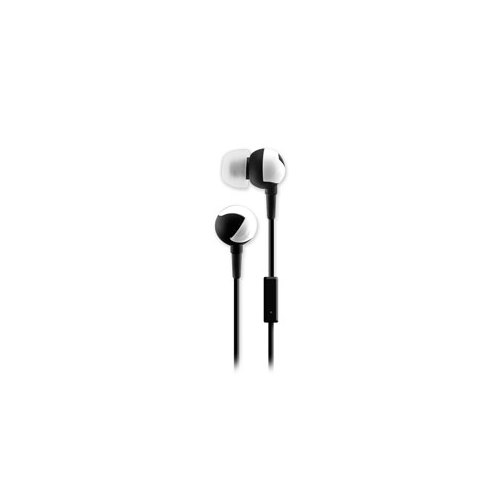 SENTRY HM361 ZIG-ZAGS EAR BUDS WITH IN-LINE MIC  BLACK