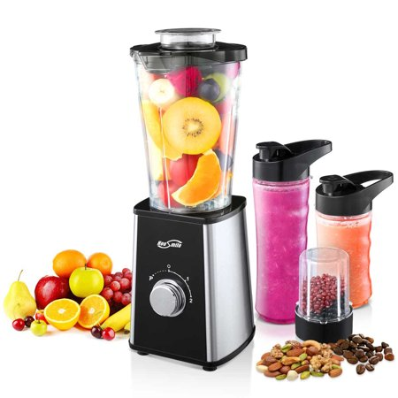 Housmile Fruit Juicer Blender, Smoothie Blender 7-Piece Countertop Blender with 300 Watt Base, High-Speed Blender for Shakes and Smoothies & Ice -