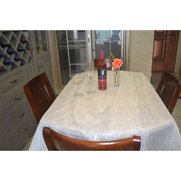 Ease Live 1 Pack Premium Disposable Pe, What Size Tablecloth For A 72 Inch Rectangle Table