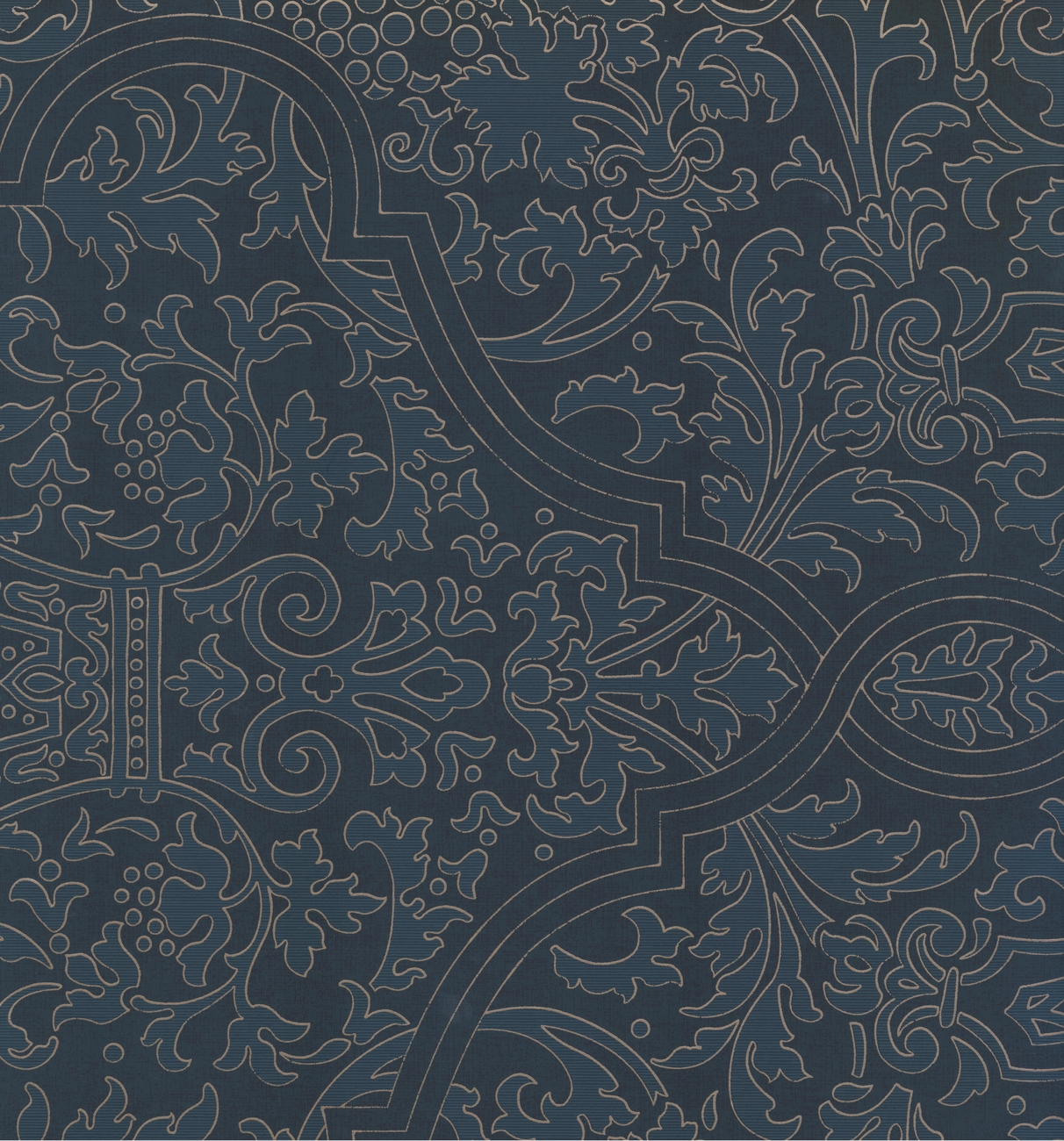 CL2_PAISLEY - Traditional Color Blue Wallpaper Roll - image 1 of 1