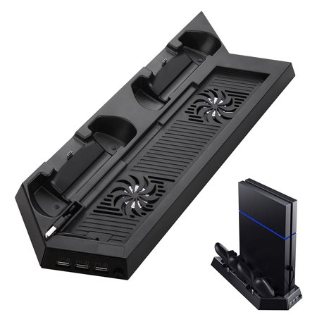 Eeekit Ps4 Cooling Station Vertical Stand W  2 Playstation 4 Dualshock 4 Controller Charging Dock And Dual Usb Hub Ports