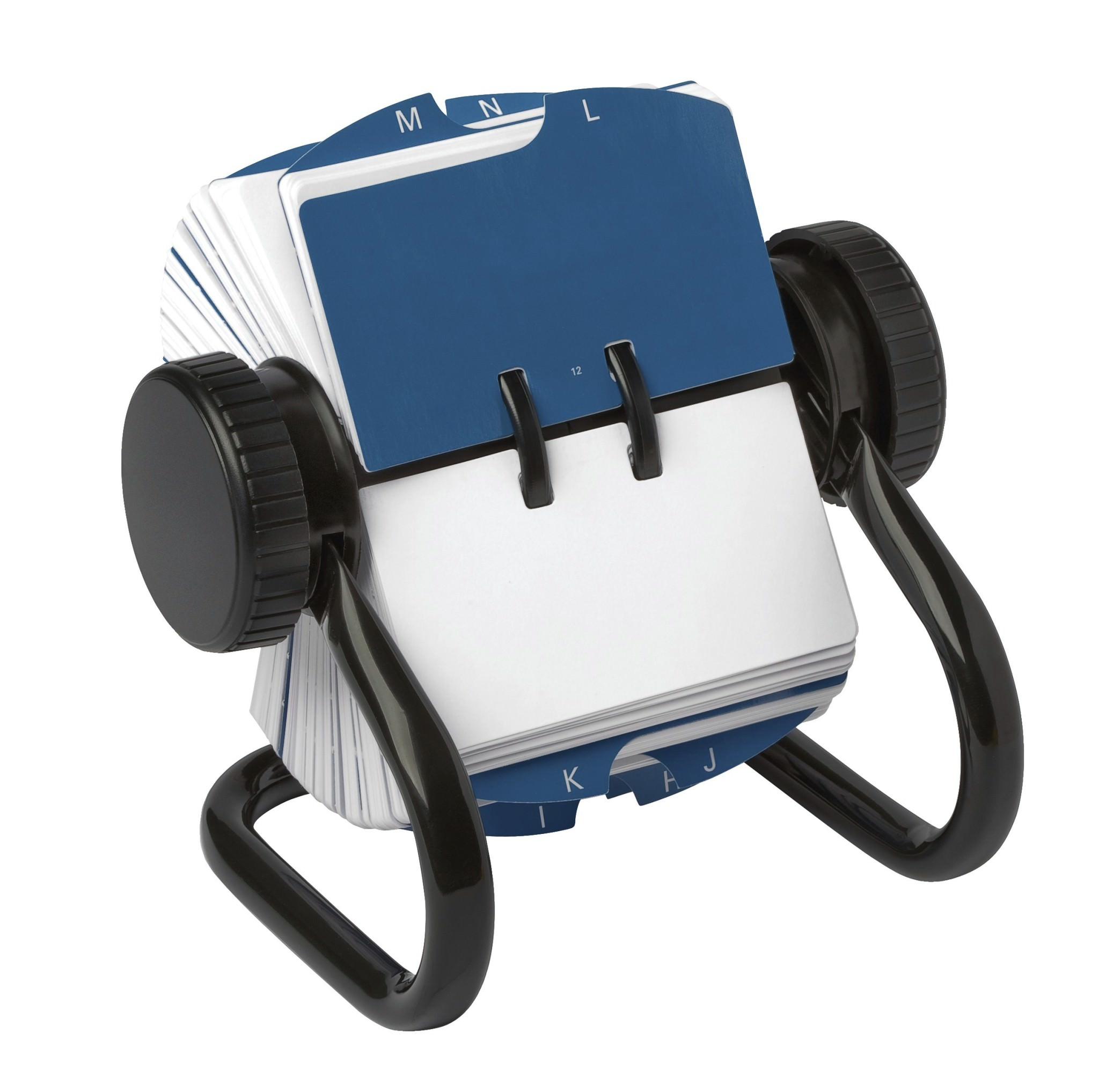 Rolodex Classic Open Rotary Card File 250 1-3/4 x 3-1/4 Inch Cards and 24 A-Z Guides, Black