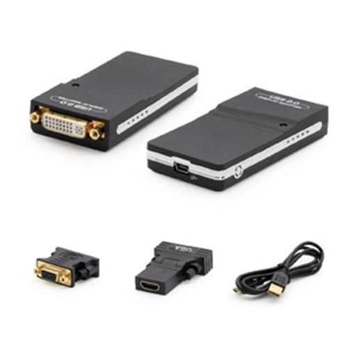Add-onputer Peripherals, L USB2DVI2-5PK 8 inch Mini-displayport Male To Hdmi Female Black Adapter, Pack Of 5