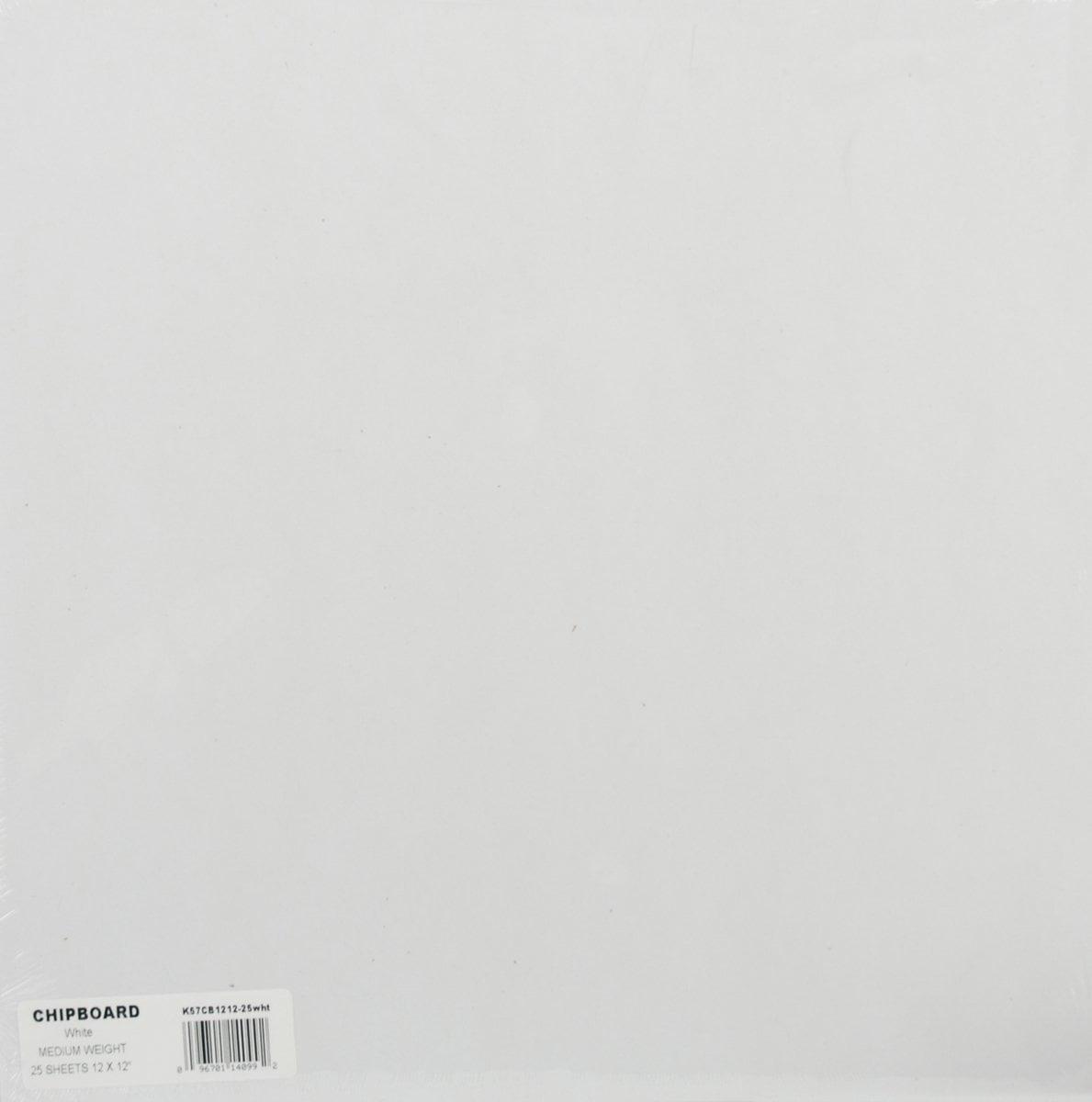 Grafix Medium Weight Chipboard Sheets 8.5X11 25//Pkg-White