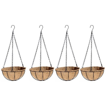 Coco Basket (Wire Plant Round Baskets with Coco liners, 12