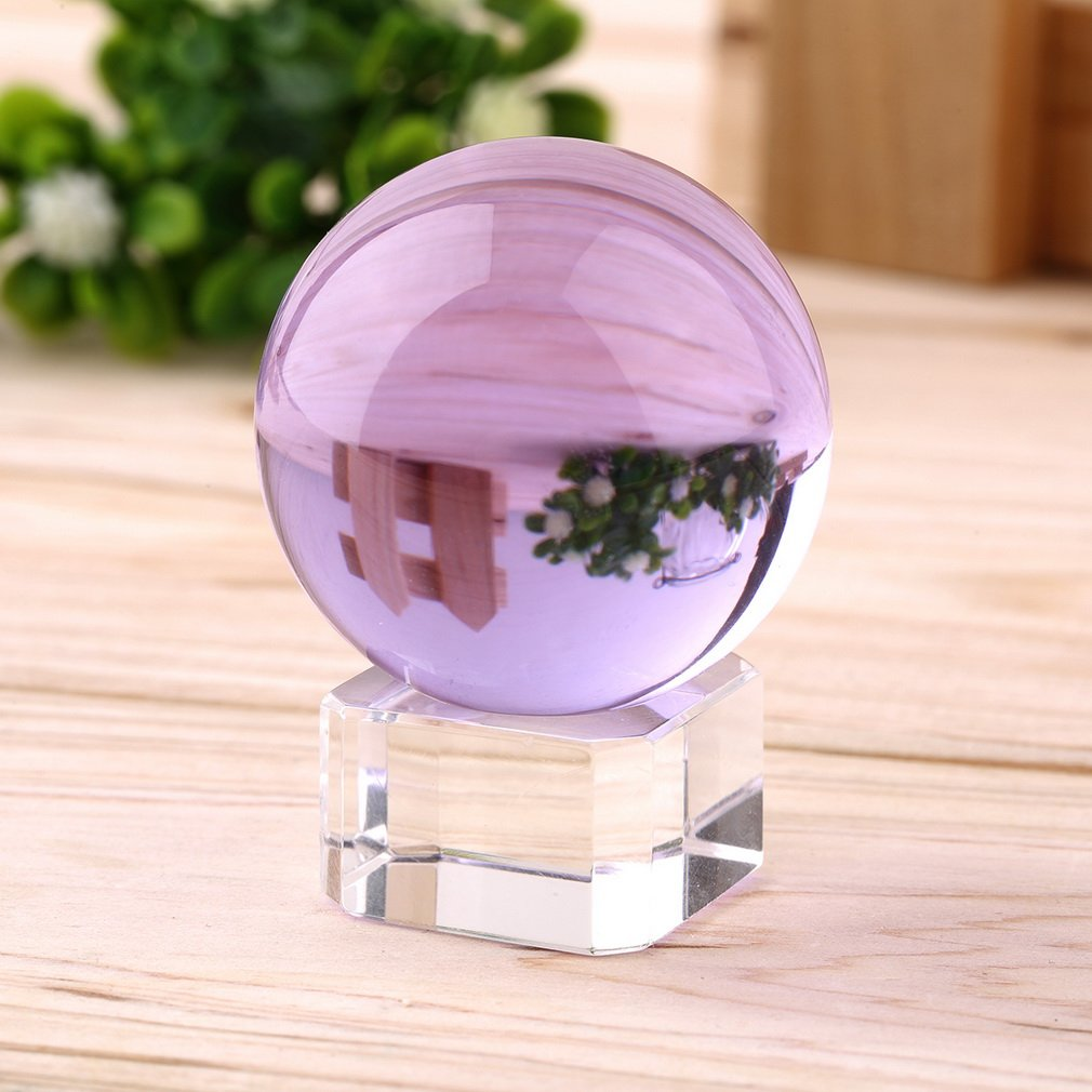 Hot Unisex Natural Quartz Purple Magic Crystal Healing Ball Sphere 40mm + Stand