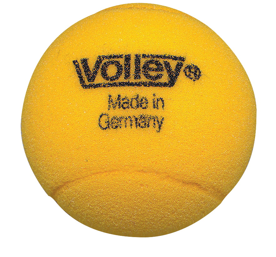 Volley 3-1/2 in Uncoated Medium Bounce Foam Balls, Set of 3, Yellow