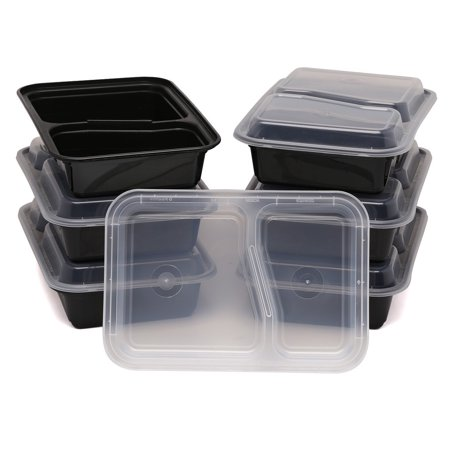 Estilo 2 Compartment Microwave Safe Bento Food Container with Lid