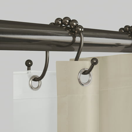 Better Homes and Gardens Never Rust Open Glide Shower Curtain Hooks / Rings