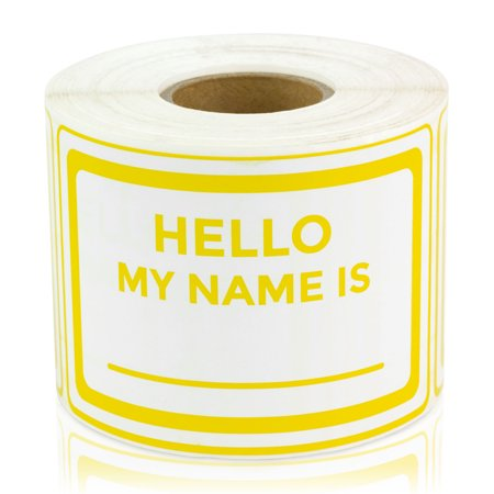 officesmartlabels 3 x 2 hello my name is labels for name tags