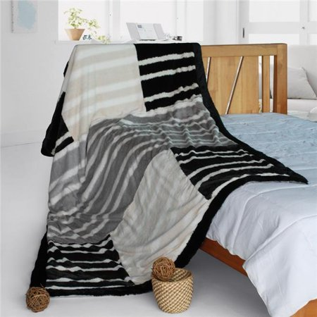 onitiva-blk-099 61 by 86.6 in. onitiva - charming leopard patchwork throw blanket  purple