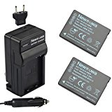 Newmowa DMW_BCG10 Battery (2_Pack) and Charger kit for Pa...