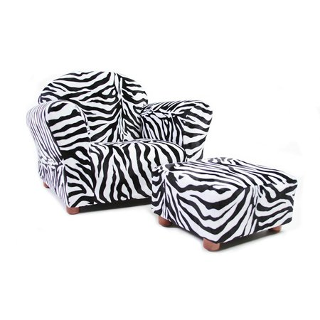 Keet Roundy Kids Chair Zebra With Ottoman Walmart Com