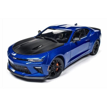 2017 Chevy Camaro SS 1LE 50th Anniversary, Hyper Blue - Auto World AW241 - 1/18 Scale Diecast Model Toy Car