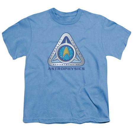 Trevco STAR TREK ASTROPHYSICS Carolina Blue Child Unisex T-Shirt (Star Trek Blue Shirts)
