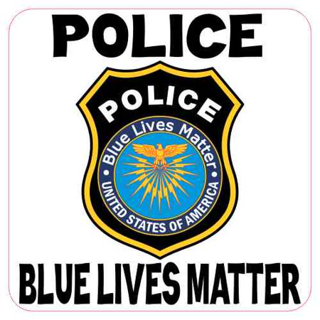 3in x 3in Police Blue Lives Matter Badge Sticker Police Support Stickers Police Badge Ring