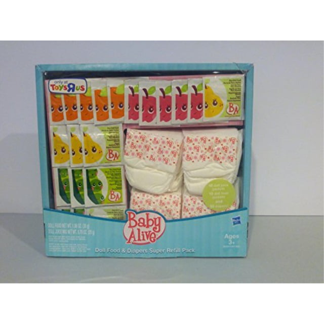Baby Alive Doll Food And Diapers Super Refill Pack Walmart Com Walmart Com