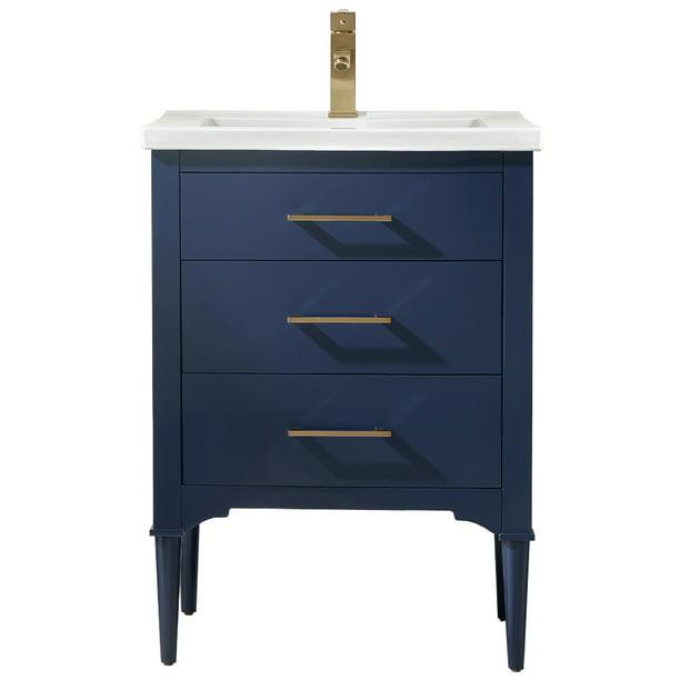 Design Element Mason 24 Single Sink Bathroom Vanity In Blue Walmart Com Walmart Com
