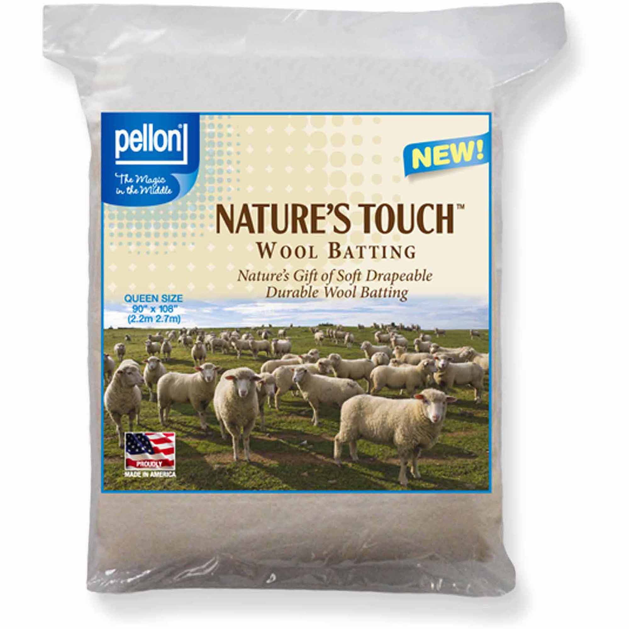 Pellon Nature's Touch Wool Batting, Queen-Sized