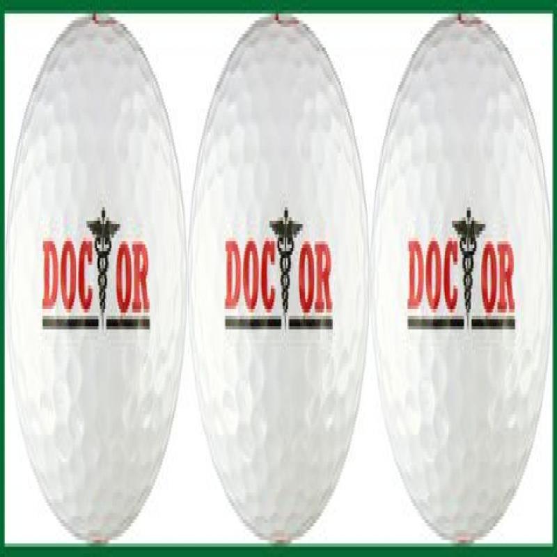 Doctor w  Caduceus Golf Ball Gift Set by