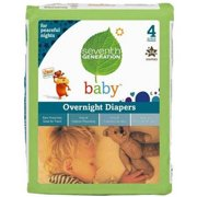 Seventh Generation Baby Free & Clear Overnight Diapers (Choose Your Size)
