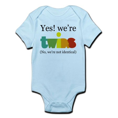 CafePress - Yes! We're Twins (Fraternal) Infant Bodysuit - Baby Light